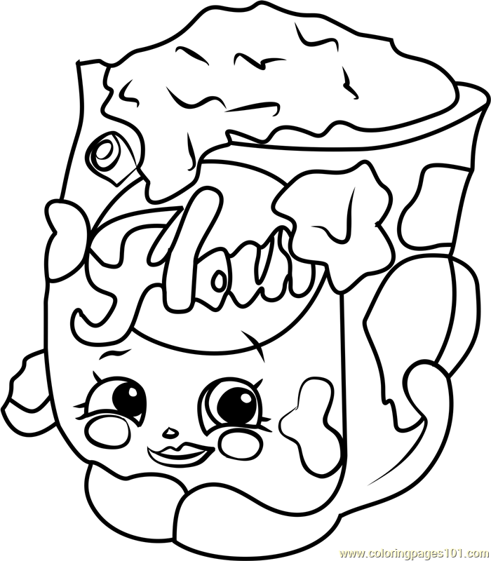 Fi fi flour shopkins coloring page