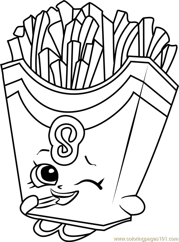 Fiona Fries Shopkins Coloring Page
