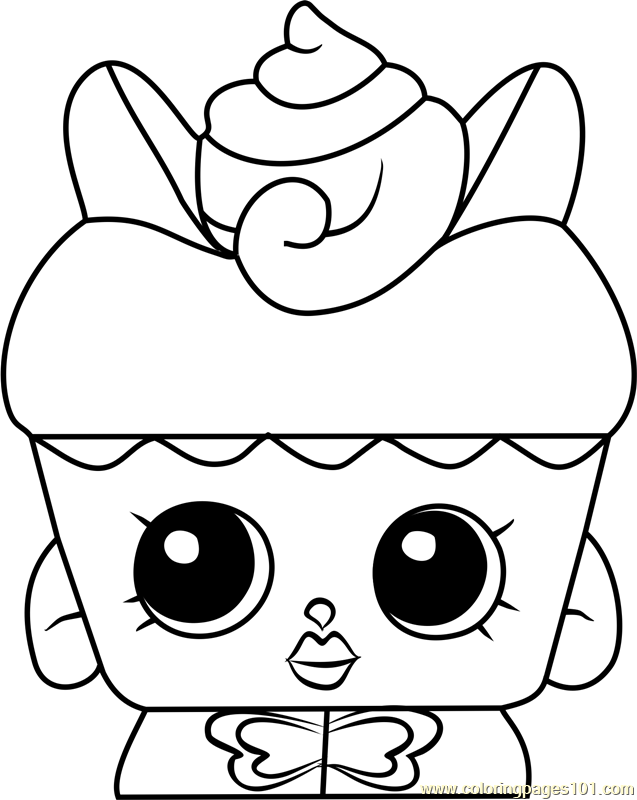 Flutter Cake Shopkins Coloring Page Free Shopkins Coloring Pages