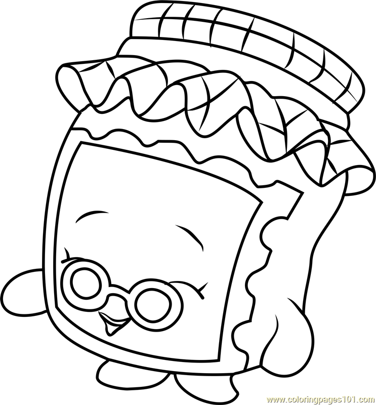 Gran jam shopkins coloring page