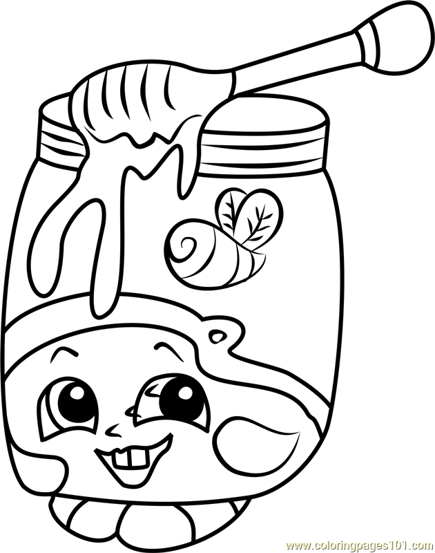 Honeeey Shopkins Coloring Page