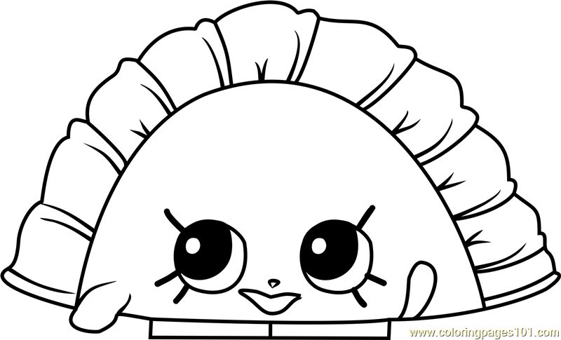 Humpty Dumpling Shopkins Coloring Page