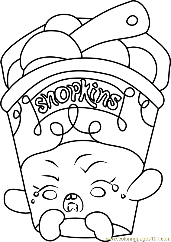 Ice Cream Dream Shopkins Coloring Page Free Shopkins