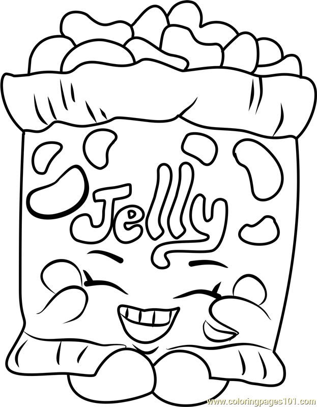 Jelly B Shopkins Coloring Page