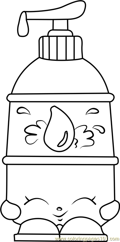 La 39 Lotion Shopkins Coloring Page