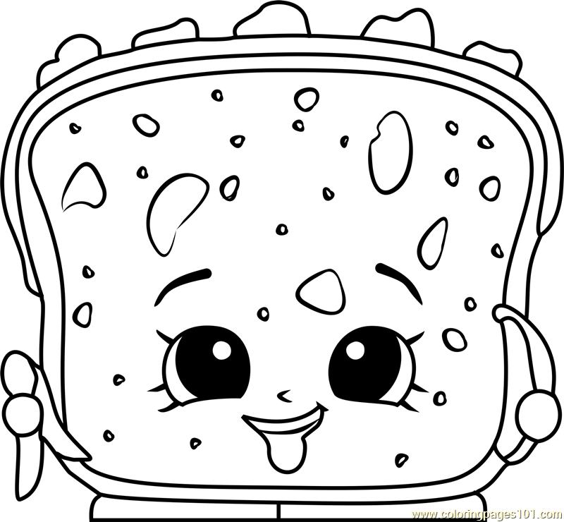 Printable Coloring Pages Shopkins Lana Banana Bread Page For Kids And Adults