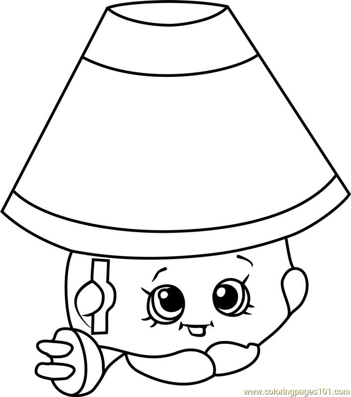 Lana Lamp Shopkins Coloring Page
