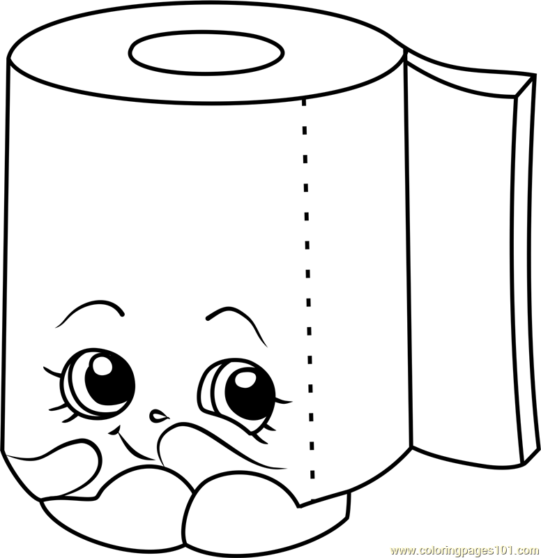 Leafy Shopkins Coloring Page
