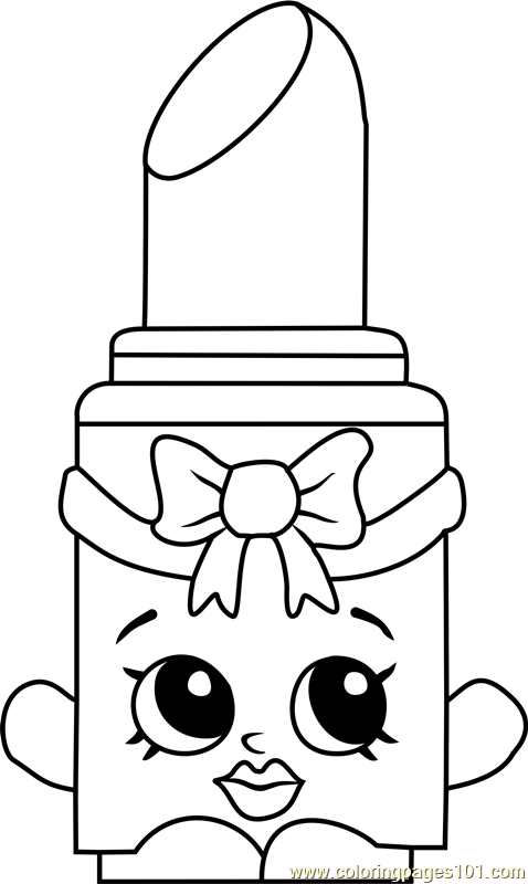 Lippo Shopkins Coloring Page - Free Shopkins Coloring ... Butter Clipart Black And White