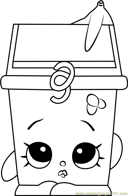 Lisa Litter Shopkins Coloring Page Free Shopkins
