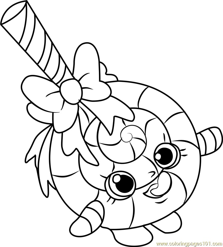 Lolli Poppins Shopkins Coloring Page Free Shopkins Coloring Pages