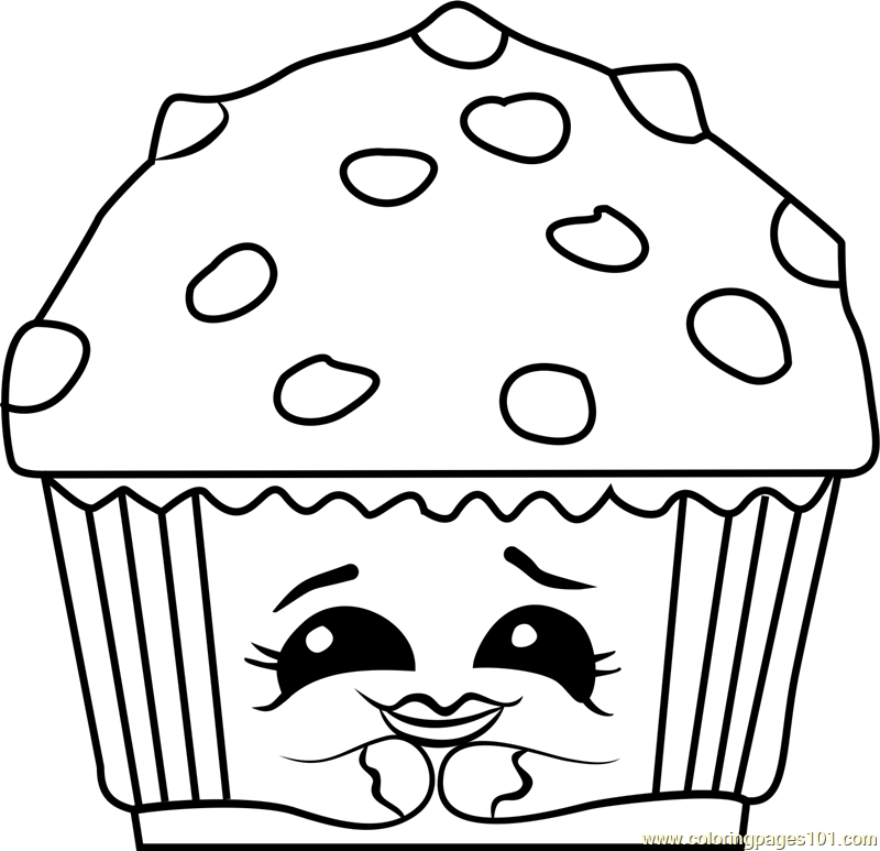 Mary Muffin Shopkins Coloring Page