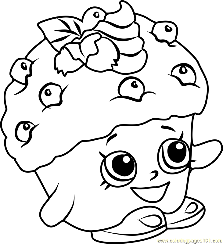 Mini Muffin Shopkins Coloring Page