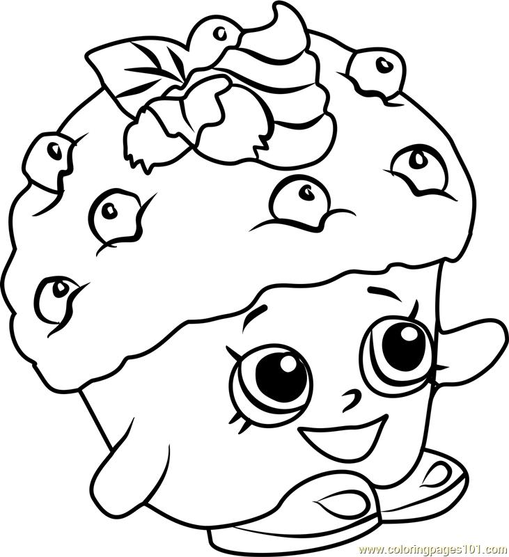 Mini Muffin Shopkins Coloring Page