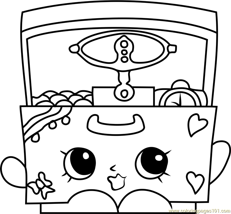 Music Box Shopkins Coloring Page