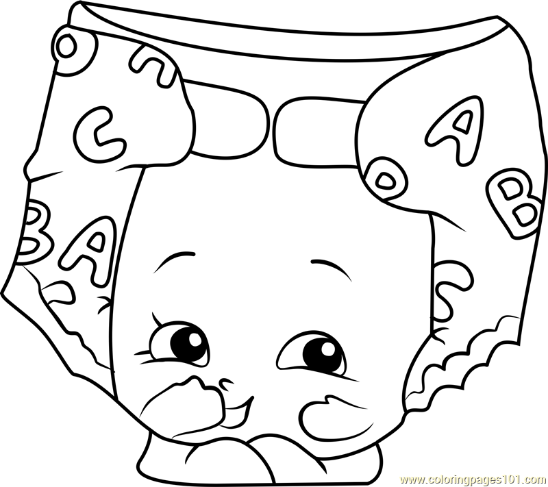 Nappy Dee Shopkins Coloring Page