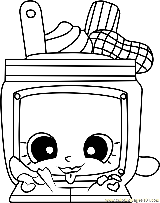 nutty butter shopkins coloring page free shopkins
