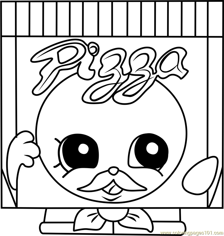 pa pizza shopkins coloring page - Pizza Coloring Pages