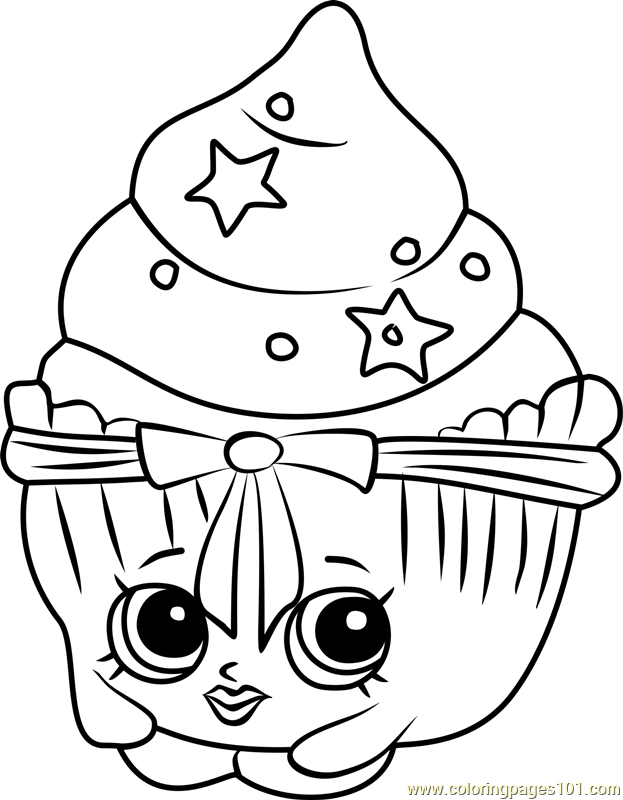Patty Cake Shopkins Coloring Page