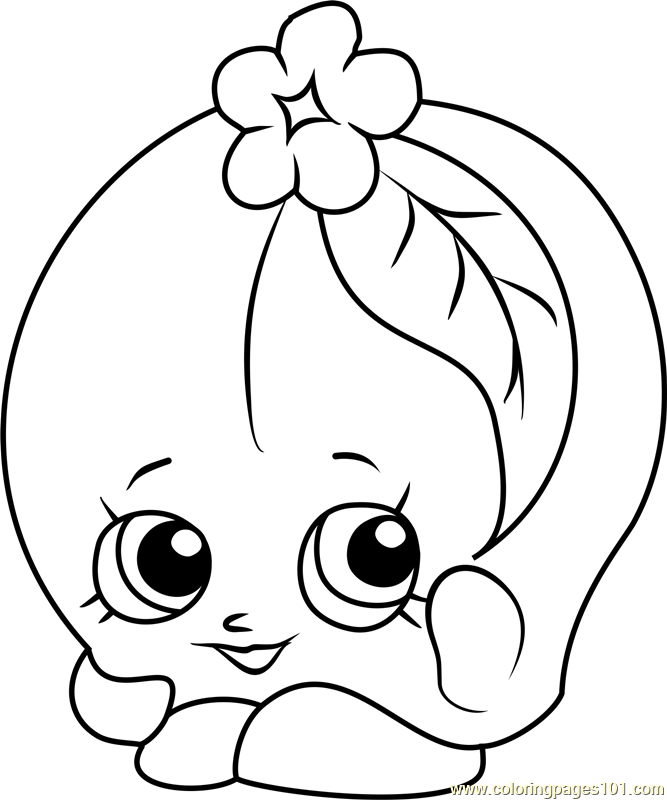 Peachy Shopkins Coloring Page