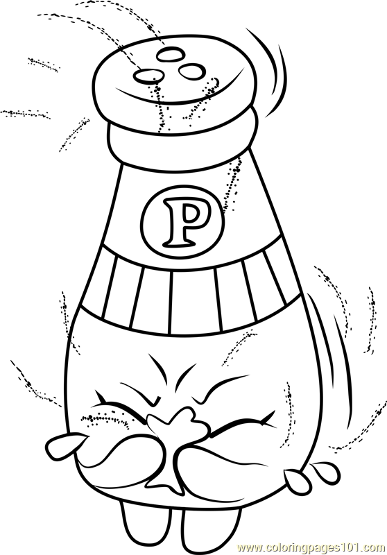 Peppe Pepper Shopkins Coloring Page