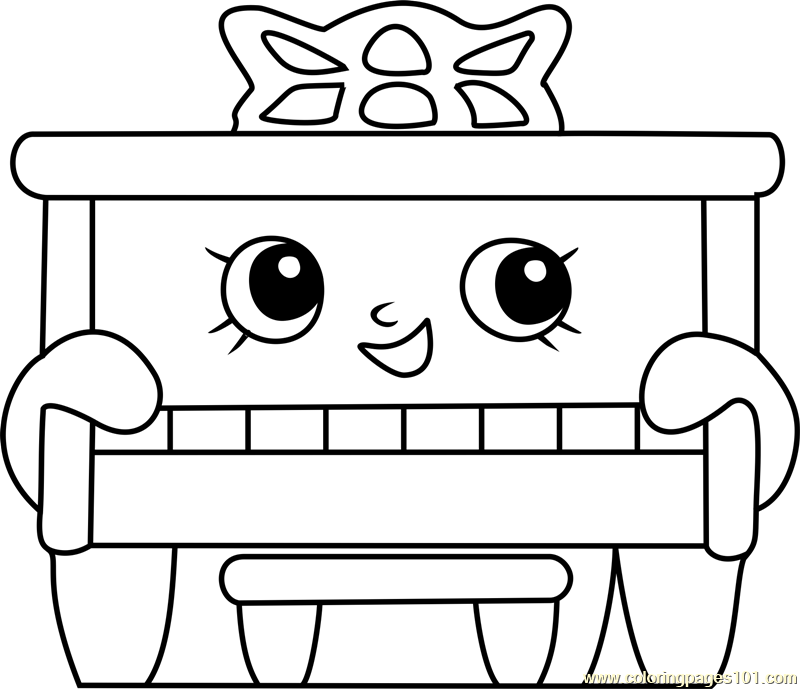 Piano Man Shopkins Coloring Page Free Shopkins Coloring Pages