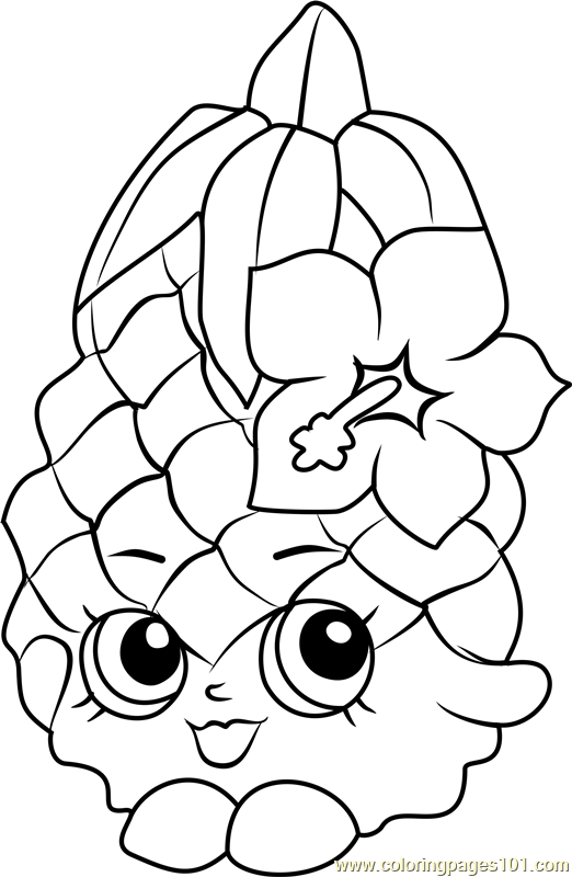 Great Pineapple Crush Shopkins Coloring Page