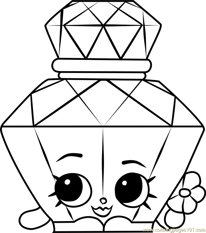 Printable Coloring Pages Shopkins Polly Perfume Page Free