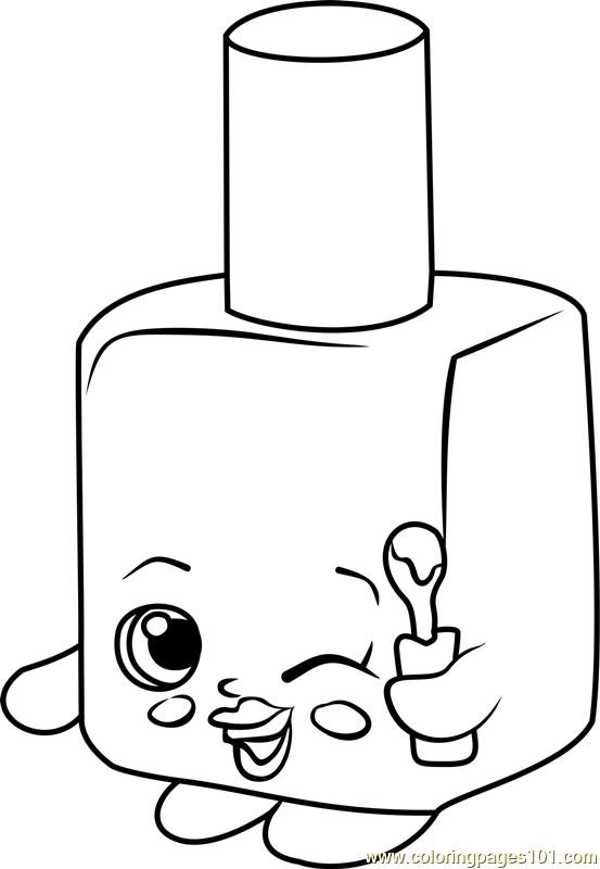 Nail polish bottle coloring page for Nail salon coloring pages