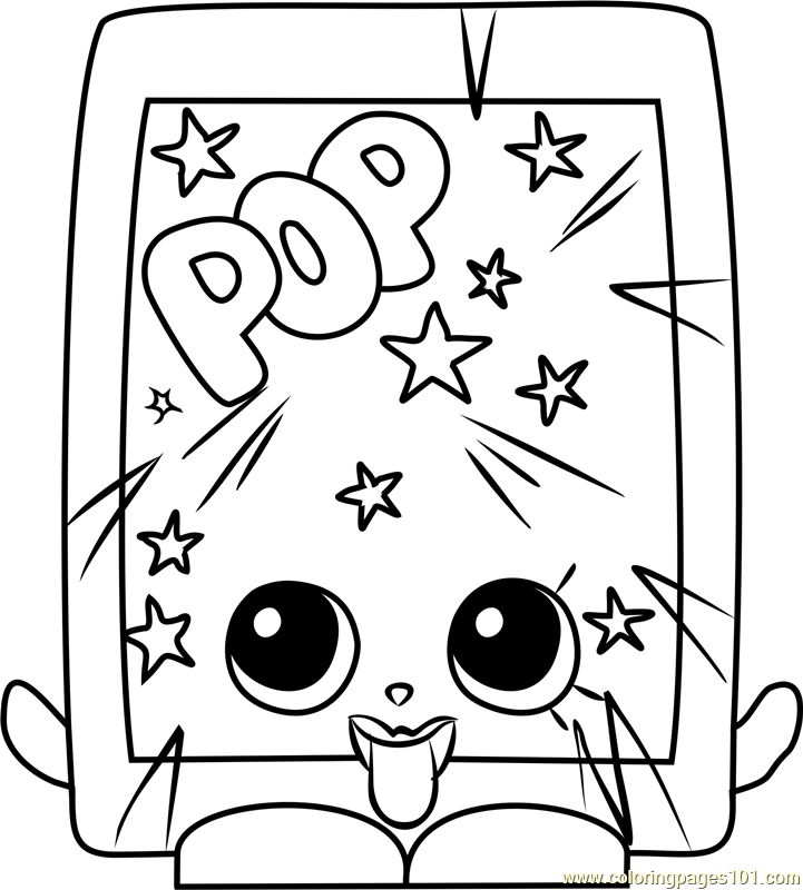 poprock shopkins coloring page