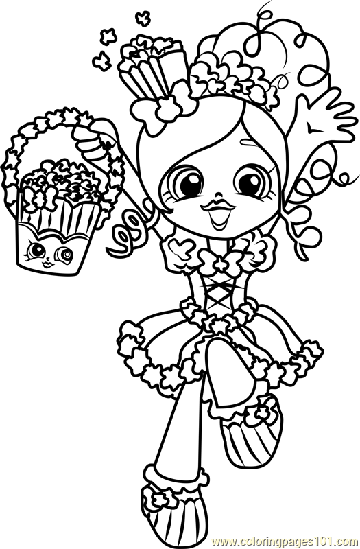 Popette Shopkins Coloring Page