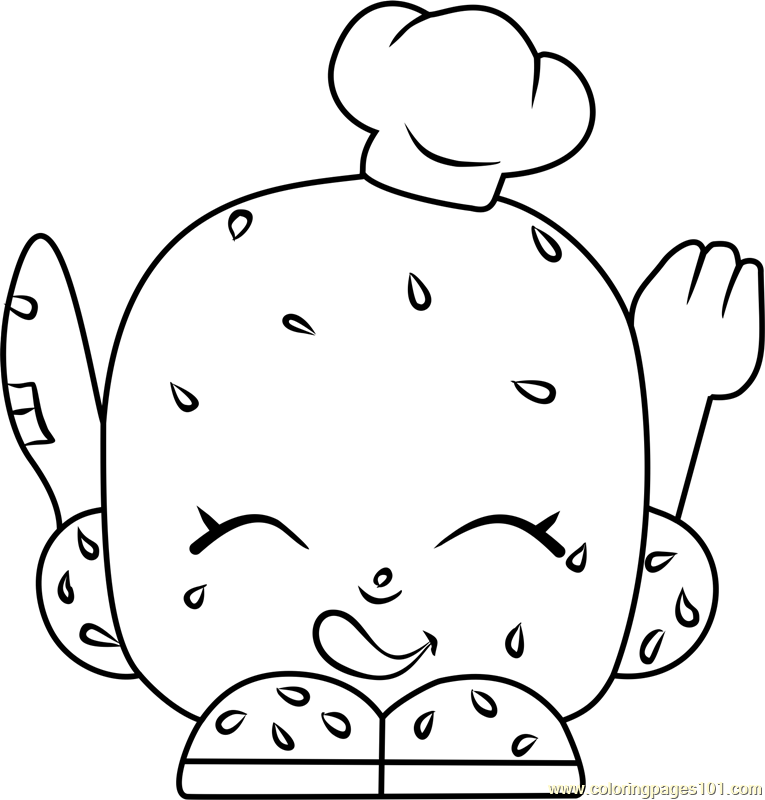 Rolly Roll Shopkins Coloring Page