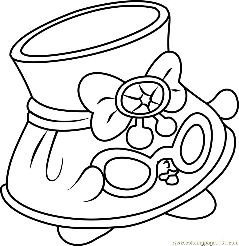 Shady Shopkins Coloring Page - Free Shopkins Coloring Pages :  ColoringPages101.com