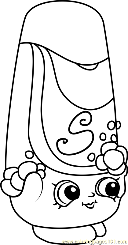 Shampy Shopkins Coloring Page