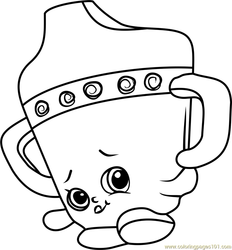 Sippy Sips Shopkins Coloring Page