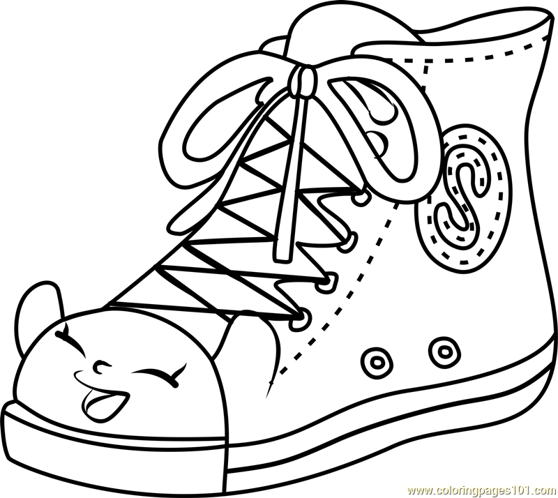 Sneaky Sally Shopkins Coloring Page