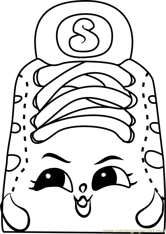 Sneaky Sue Shopkins Coloring Page Free Shopkins Coloring