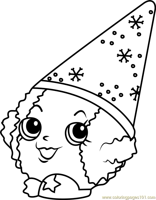 snow crush shopkins coloring page