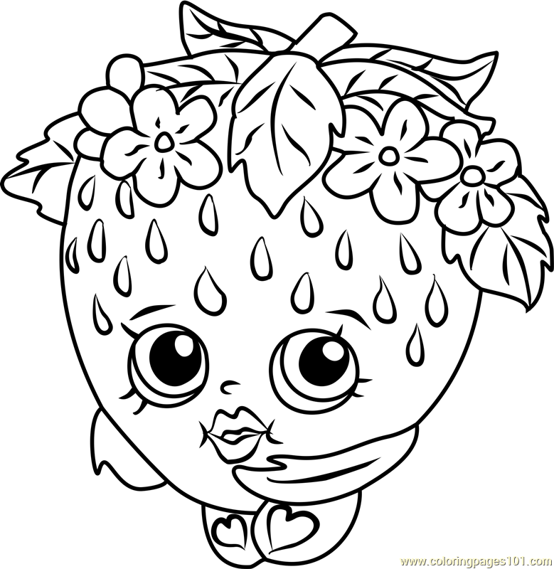 Kitty Shopkins Coloring Page