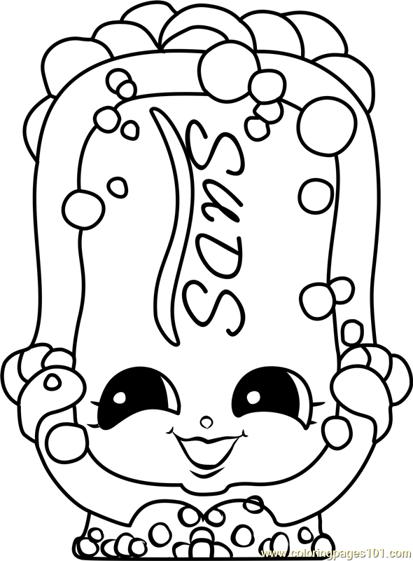 Suds Shopkins Coloring Page Free
