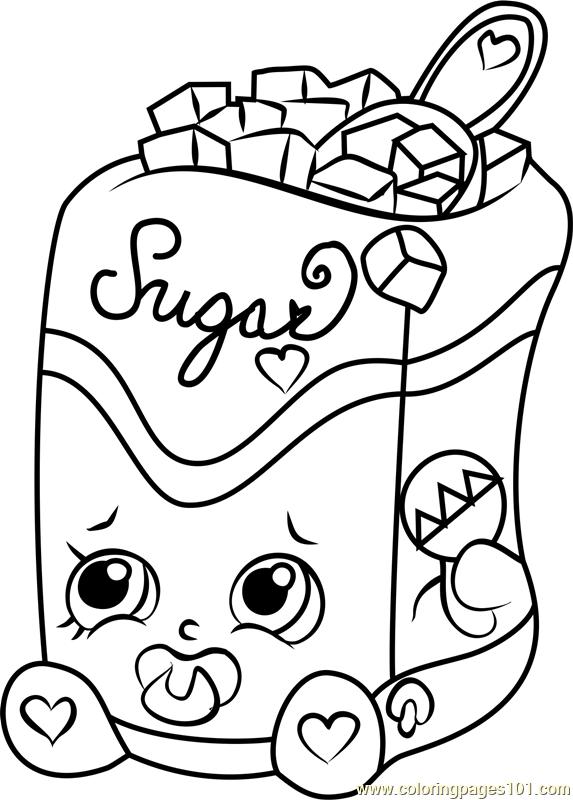 Sugar Lump Shopkins Coloring Page