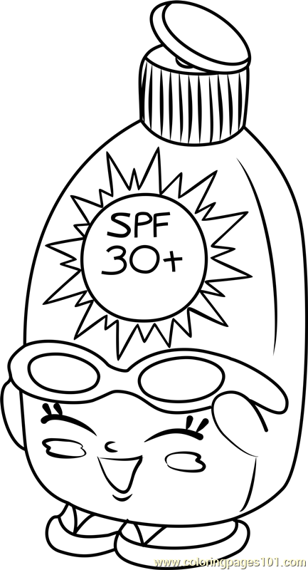 Sunny Screen Shopkins Coloring Page