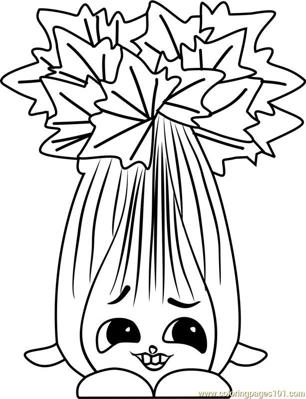 Super Celery Shopkins Coloring Page