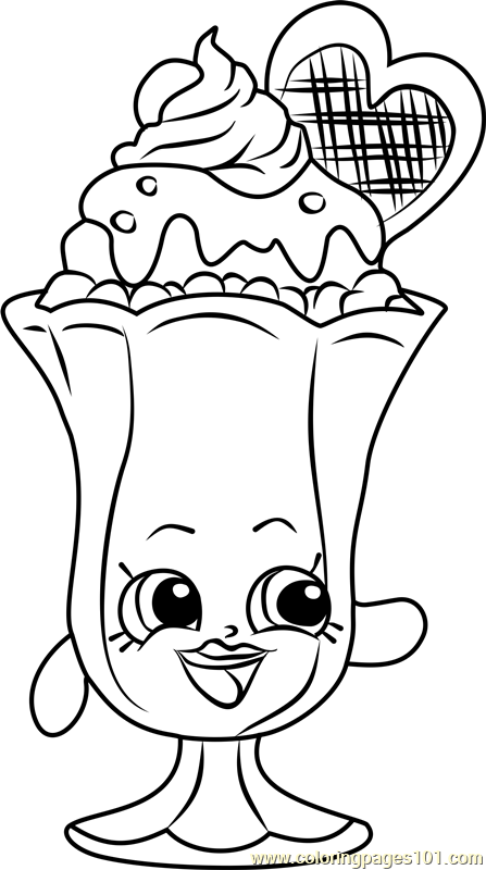 Printable Coloring Pages Shopkins Suzie Sundae Page Free