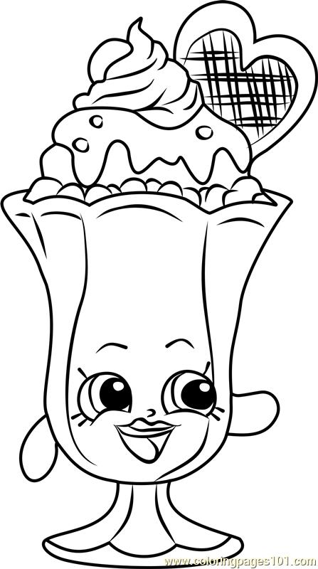 Suzie Sundae Shopkins Coloring Page Free Shopkins