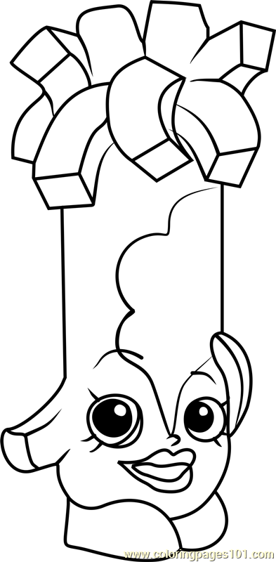Swiss Miss Shopkins Coloring Page
