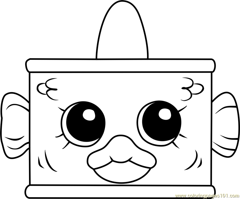 Tin'a'Tuna Shopkins Coloring Page