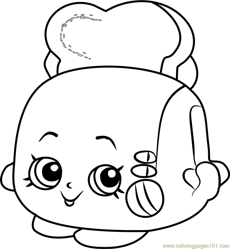 Toasty pop shopkins coloring page