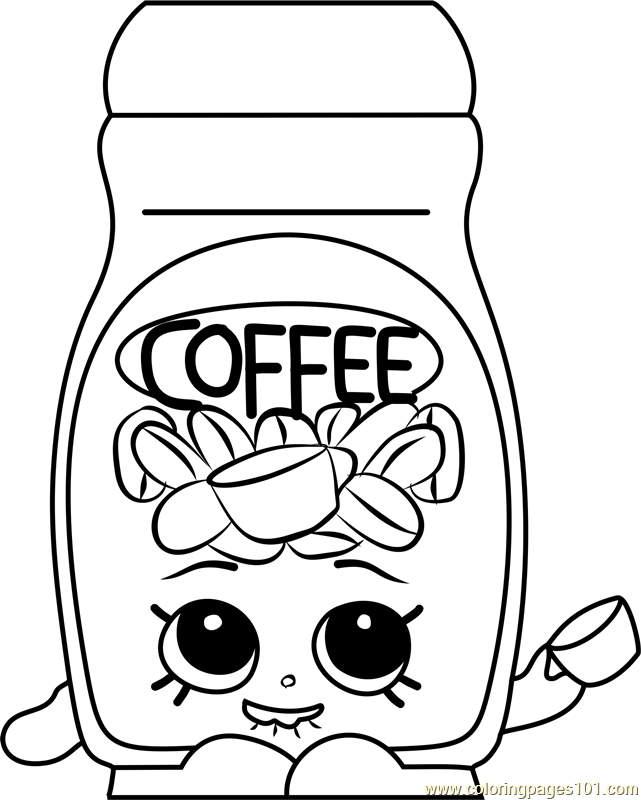 Toffy Coffee Shopkins Coloring Page Free Shopkins Coloring