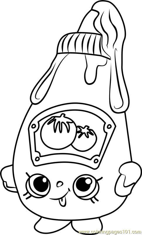 Tommy Ketchup Shopkins Coloring Page Free Shopkins